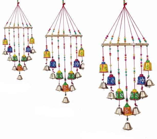 BHAGWATI HANDICRAFTS andcraft rajasthane colored bells desing wall hanging decorative showpice Decorative Showpiece  -  82 cm