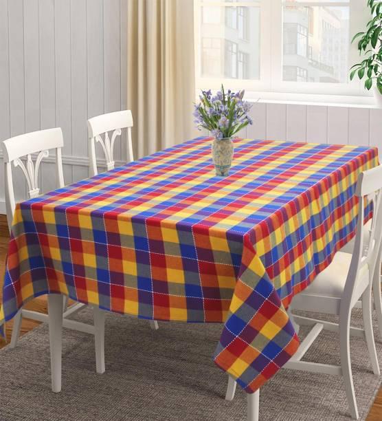 Flipkart SmartBuy Checkered 4 Seater Table Cover