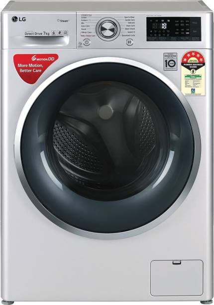 LG 7 kg 5 Star Fully Automatic Front Load with In-built Heater Silver