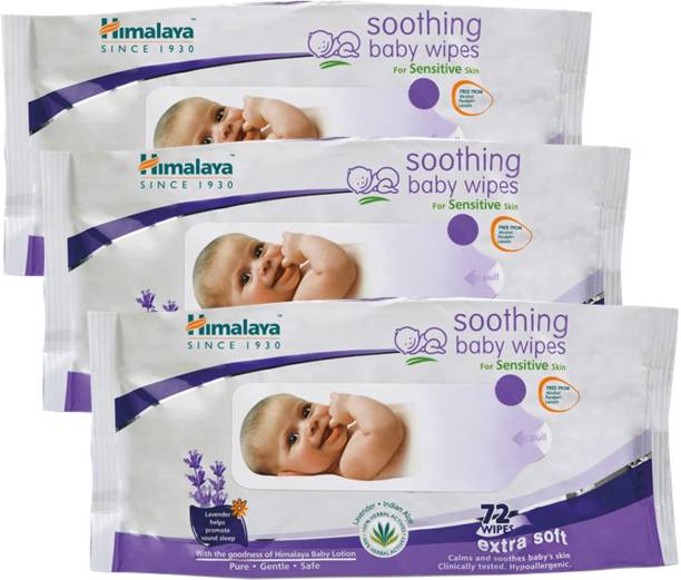 HIMALAYA Soothing Baby Wipes ( 72 Count, Pack Of 3)