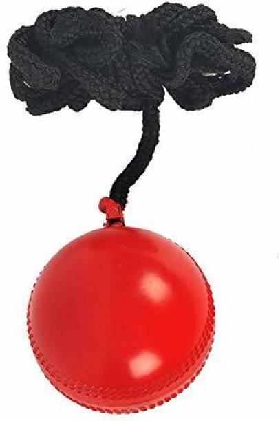RIO PORT Hanging Rubber Cricket Practice Ball, Standard (Red) Baseball