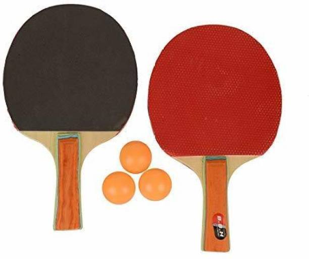 RIO PORT Table Tennis Starter Kit with Three Ping Pong Balls (Multicolour) Baseball