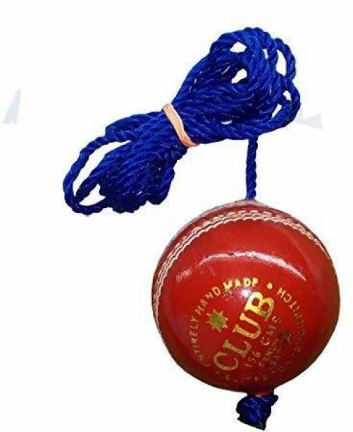 RIO PORT PRACTICEBALL1 Nylon Club Leather Hanging Practice Cricket Ball Pack of 1 Baseball