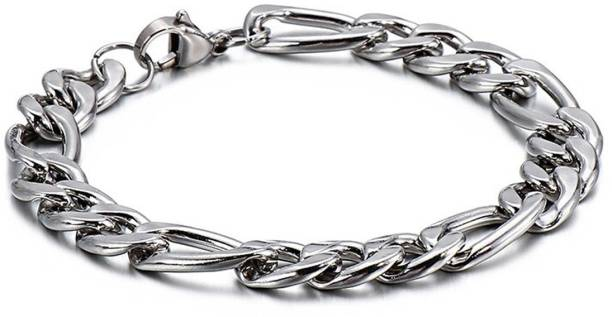 M Men Style Stainless Steel Sterling Silver Bracelet