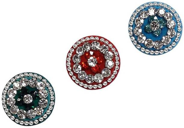ANAM GOLD Love Collection Multicolor Round Bindis for Women Women Multicolor Bindis