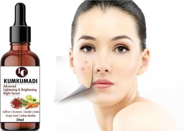 INDO CHALLENGE Kumkumadi Oil for Glowing, Spotless Lightning & Brightening Night serum