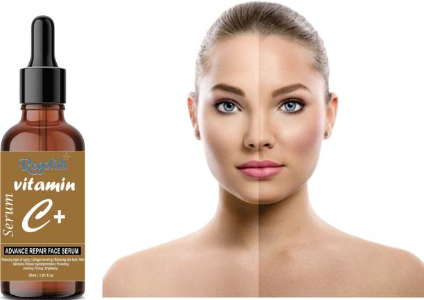 Regolith Vitamin C Serum With Hyaluronic Acid, Ferulic Acid and Vitamin E - Anti Ageing, Skin Brightening and Tan Removal