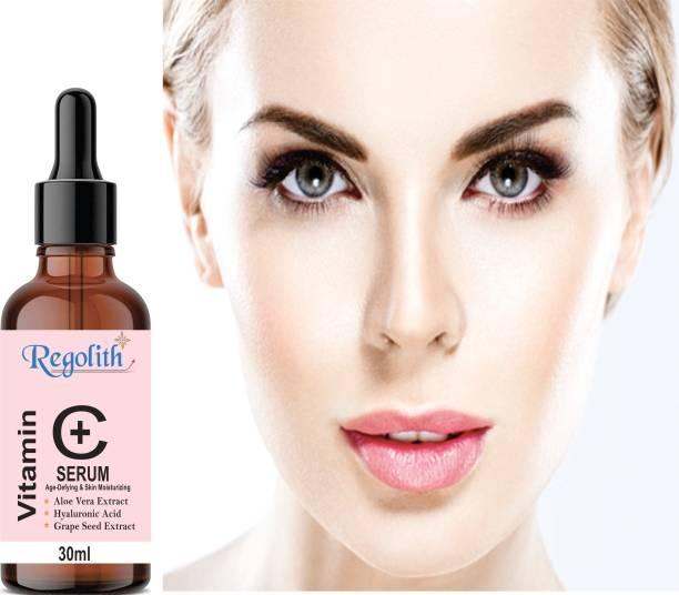 Regolith Vitamin C Serum Skin Brightening,Anti Aging,Spotless Skin,Sun Protection,Under Eye Circles,Facial Serum
