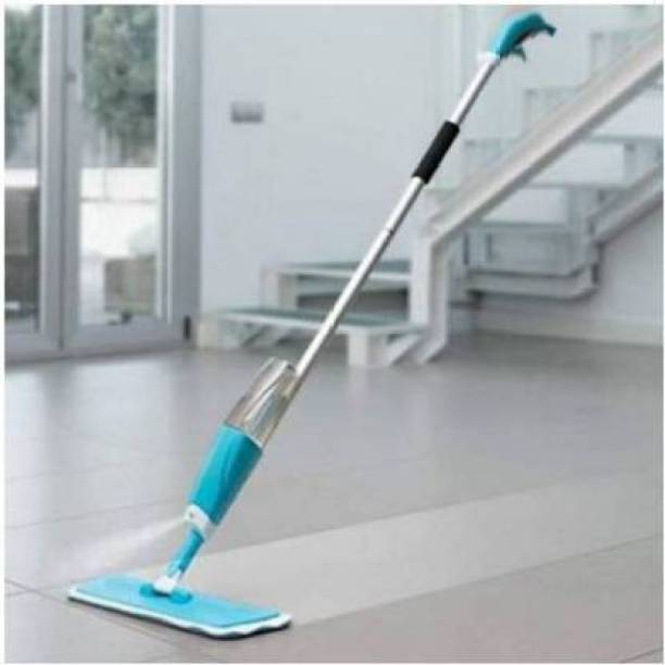 Mizuki Microfiber Steel Floor Cleaning Exclusive Design Spray Mop With Integrated Bottle all Surface Floor Tile Cleaner Wet & Dry Mop with Dust Cleaning Brush for Window Frame, Sliding Window Track, Laptop Keyboard, Car Air Vents with Dust Pan Plastic Dry Brush Plastic Wet and Dry Brush Plastic Wet and Dry Brush (Black, White) Mop, Cleaning Brush Wet & Dry Mop