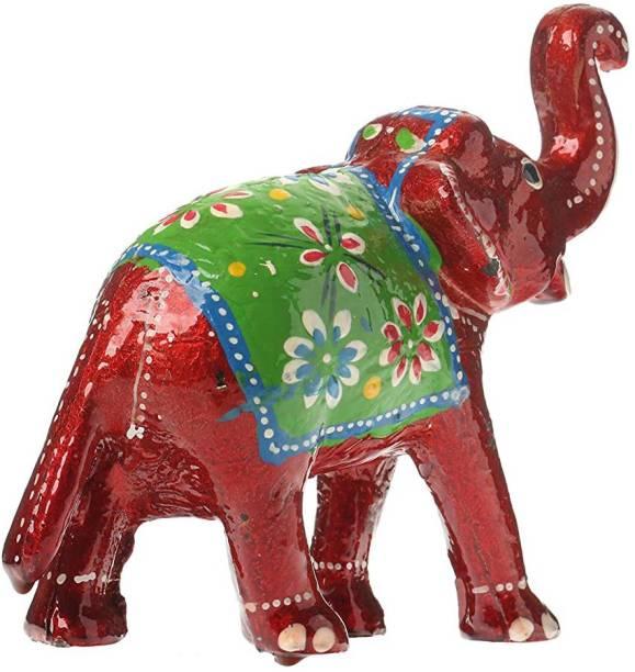 BHAGWATI HANDICRAFTS Rajasthani Home_Decor Handcrafta showpiece elephant for Decoration and Gift Purpose Decorative Showpiece  -  15 cm
