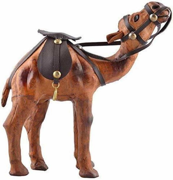 BHAGWATI HANDICRAFTS Decorative Showpiece leather camel Decorative Showpiece  -  18 cm