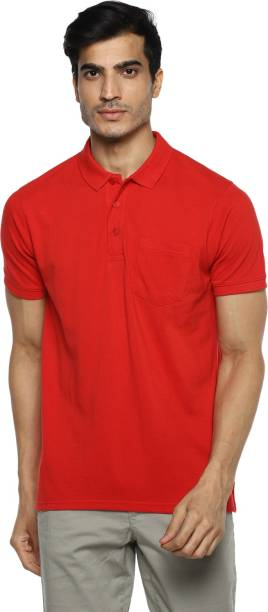 RED CHIEF Solid Men Collared Neck Red T-Shirt