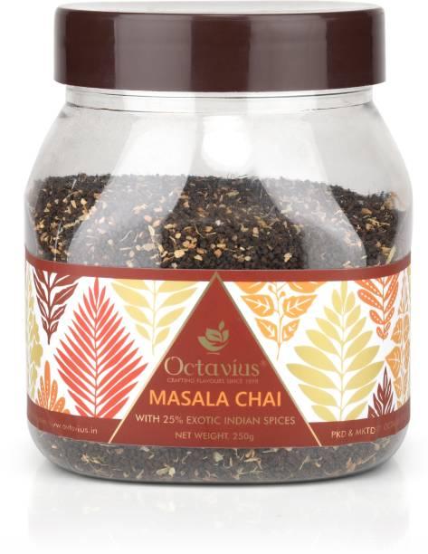 Octavius Masala CTC Chai | With Added Cinnamon, Cardamom, Clove, Black Pepper, Ginger Spices Masala Tea Mason Jar