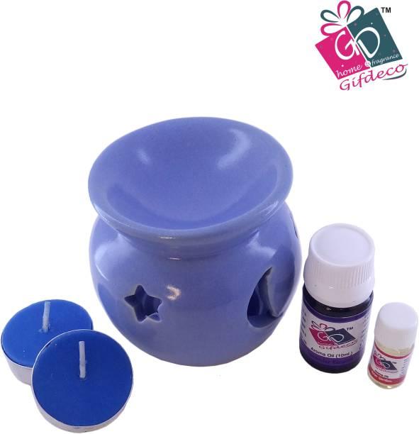 GIFDECO LAVENDER BLOSSOM 10 ML, ROSE GARDEN 3 ML Diffuser Set, Diffuser, Aroma Oil