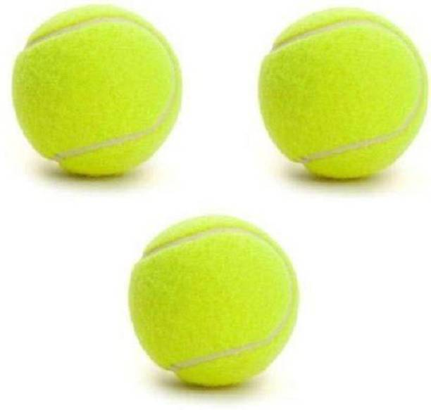 Unishore Pack Of 3 Piece Light Weight Tennis Ball (Pack of 3, Yellow) Cricket Tennis Ball