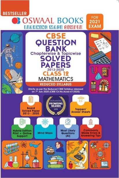 Oswaal Cbse Question Bank Chapterwise & Topicwise Solved Papers, Mathematics, Class 12 (Reduced Syllabus) (for 2021 Exam)