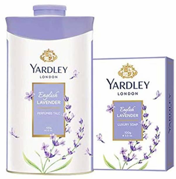 Yardley London English Lavender Luxury Soap with English Lavender Perfumed Talc
