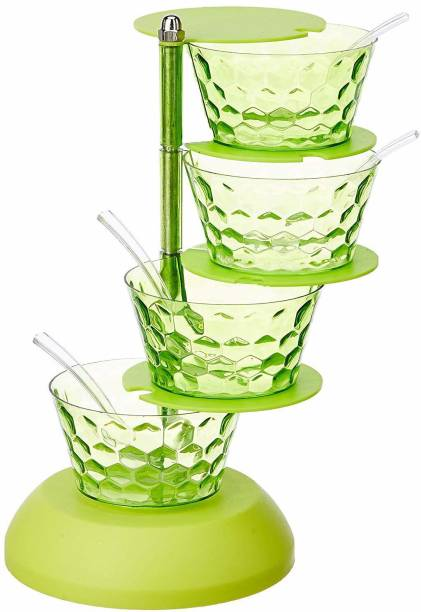 Sanraj Tower Pickle / Spice /Chutney Storage Container Stand (Multicolor) 1 Piece Spice Set