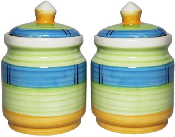 TheCraftmen Hand-Craft Ceramic Pickle & Cookie Jar / Container  - 600 ml Ceramic Pickle Jar