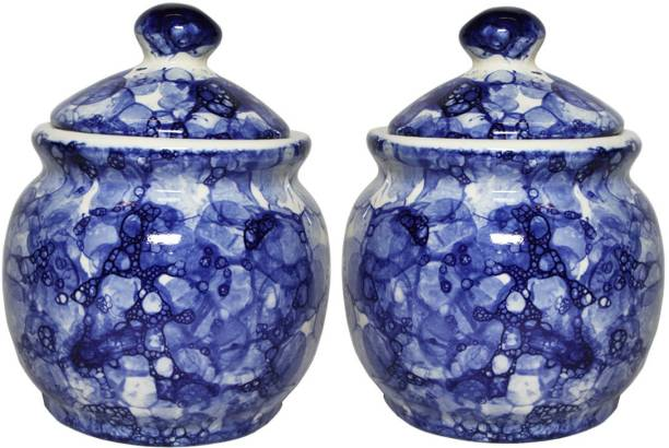 TheCraftmen Hand-Craft Ceramic Pickle & Cookie Jar / Container  - 500 ml Ceramic Pickle Jar