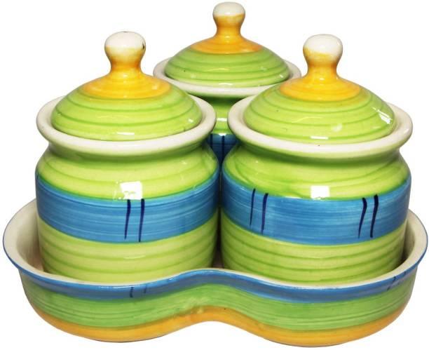 TheCraftmen Hand-Craft Ceramic Pickle & Cookie Jar / Container  - 200 ml Ceramic Pickle Jar