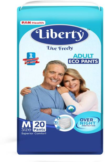 Liberty Eco Adult Diaper Pants, Medium 20's Pack (61-115 Cms   24-45Inches) Adult Diapers - M