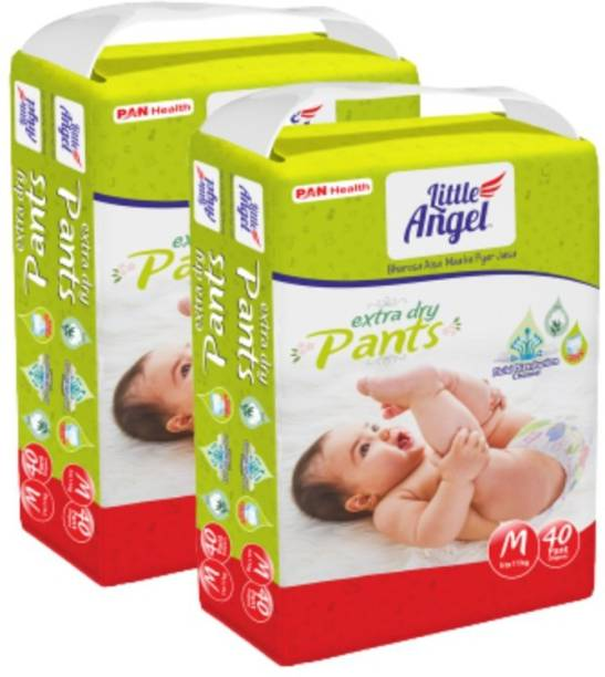 Little Angel Baby Diaper Pants (2 x 40 Pcs) - M