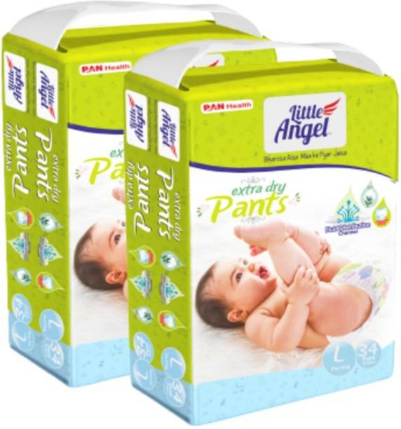 Little Angel Baby Diaper Pants (2 x 34 Pcs) - L