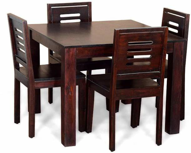 Rjkart Solid Wood 4 Seater Dining Set