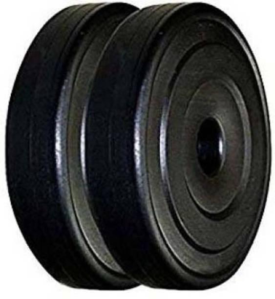 sai kirpa traders Best Quality Pvc Plates 5 kg X 2= (10 Kg) Black Weight Plate