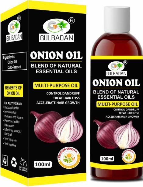 GULBADAN Onion Herbal Hair Oil Preventing Hair Loss & Promoting Hair Growth Hair Oil