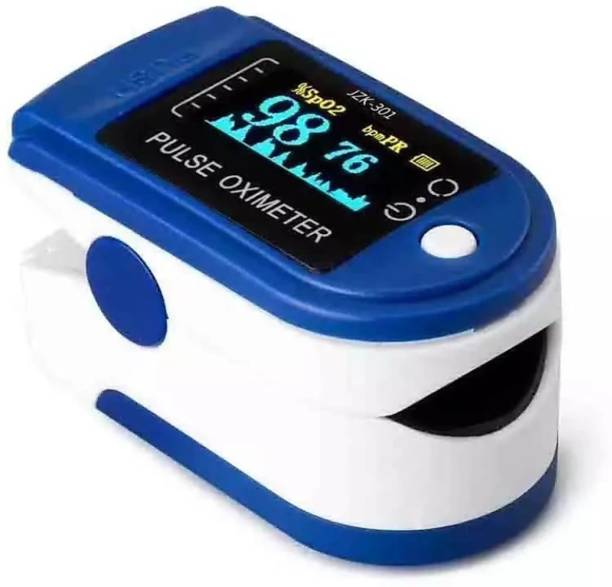 V Secure MAKE IN INDIA Finger Pulse Oximeter with 2 AAA Batteries(Blue & White Colour) Pulse Oximeter