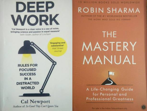Combo Of Deep Work & The Mastery Manual