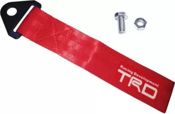 SmartFasionZ Universal Car TbD Auto Trailer Tow Strap Short Loop Set Kit with Bumper Hook Red 0.2 m Towing Cable