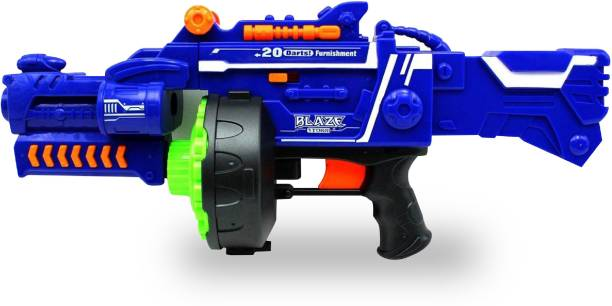Miss & Chief Battery Operated Crazy Machine Gun Blaster with 40 Foam Bullets for Kids Guns & Darts