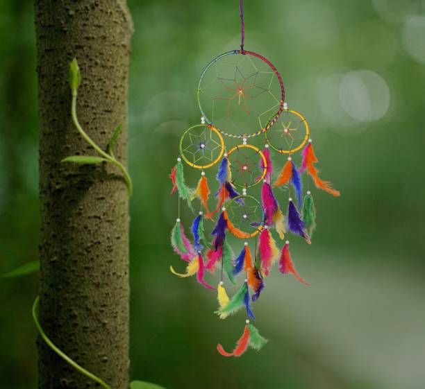 Ryme Car And Wall Hanging Dream Catcher, Attract Positive Dreams Wool Dream Catcher
