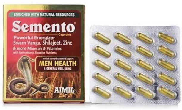 AIMIL Semento Capsules | Promotes Stamina and Performance| Supports Sexual and Vascular Health | Increases Vigour & Vitality