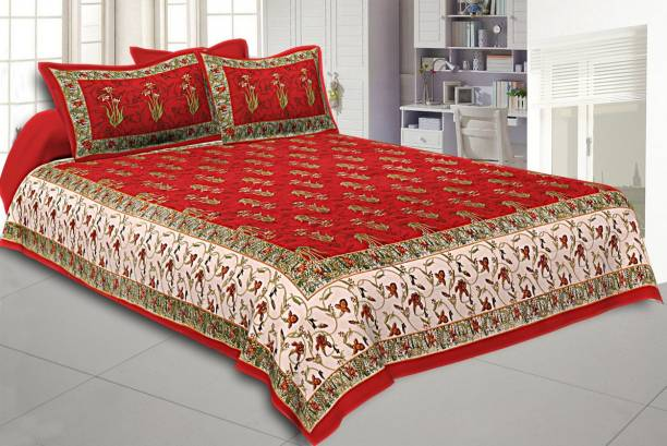 Gaurik Enterprises 140 TC Cotton Double Printed Bedsheet