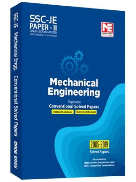 Ssc Je Mechanical Engineering(2020) - Previous Year Conventional Solved Papers