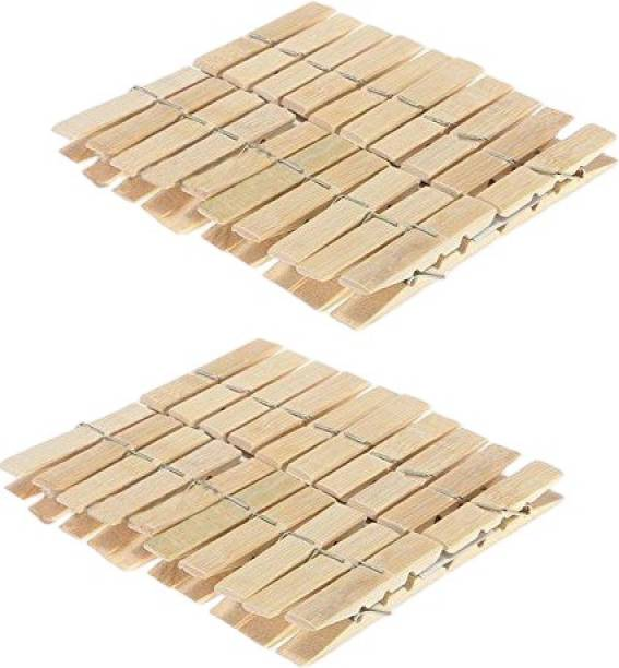 Boogeyman Wooden Clips Bamboo Cloth Pegs - Set of (40) Plastic Cloth Clips