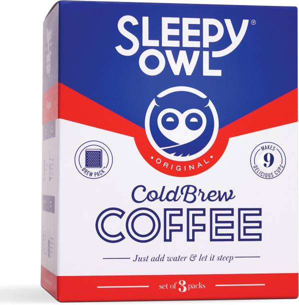 Sleepy Owl Original Cold Brew Packs (Set of 3) Roast & Ground Coffee