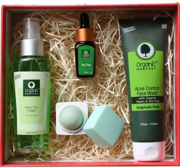 Organic Harvest Gift Kit   Premium Beauty Gift Set For Women/Girls   Gift Box of Beauty & Wellness (Premium Acne control kit)