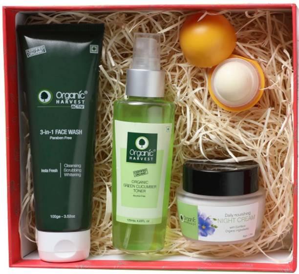 Organic Harvest Gift Kit   Premium Beauty Gift Set For Women/Girls   Gift Box of Beauty & Wellness (Night care Kit)