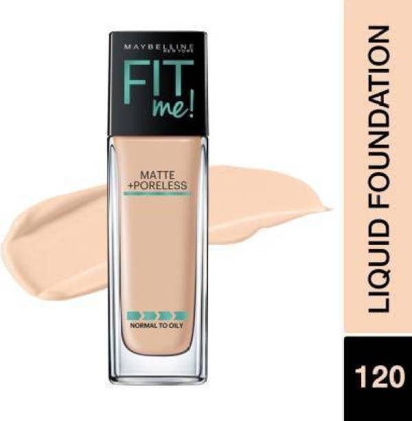 MAYBELLINE NEW YORK Fit Me Matte+Poreless Liquid 120 Color With Pump Foundation