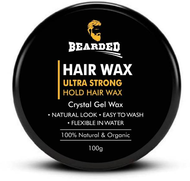 BEARDED Hair Gel Wax for men, Strong Hold & Styling Hair wax for All Hair Styles Hair Gel