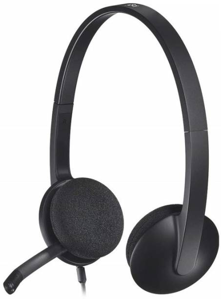 Logitech H340 Headset, Black Wired Headset