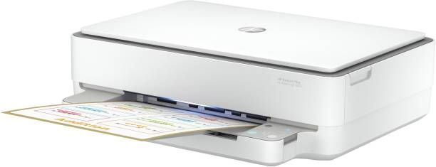 HP DeskJet Plus Ink Advantage 6075 Multi-function WiFi Color Printer with Voice Activated Printing Google Assistant and Alexa