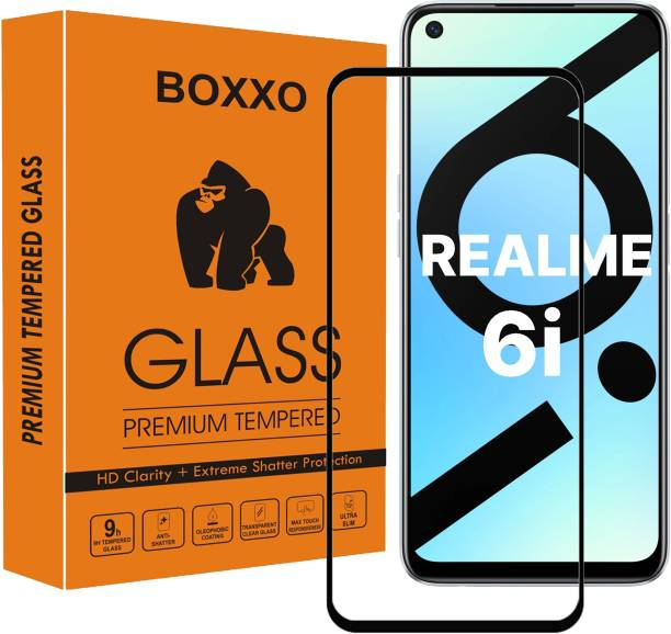 Boxxo Edge To Edge Tempered Glass for Realme Narzo 20 Pro, Realme 7i, Realme 6i, Realme 7, Realme 6