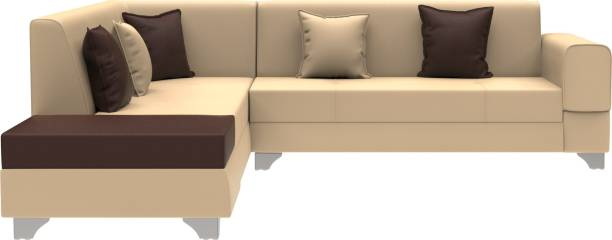Rajgarhwala Furnitures Saratov Leatherette 6 Seater  Sofa