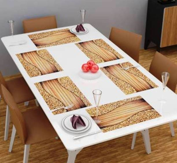 super fab Rectangular Pack of 6 Table Placemat